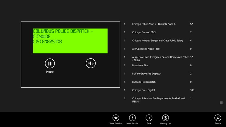 Police Radio Scanner 5-0 for Windows 8 and 8 1