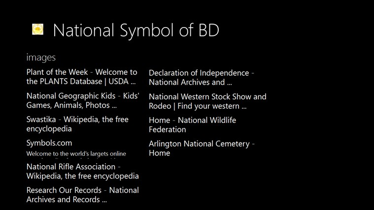 National Symbol Of Bd For Windows 8 And 81