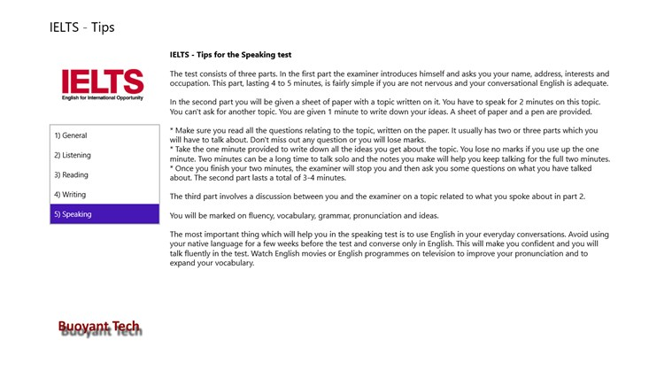 Tips - IELTS Exam for Windows 8 and 8 1