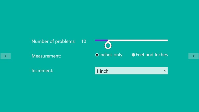 Measurement Worksheet Generator for Windows 8 and 8.1