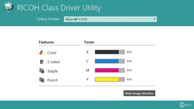 RICOH Class Driver Utility for Windows 8 and 8 1