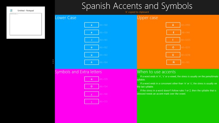Spanish Accents And Symbols For Windows 8 And 81