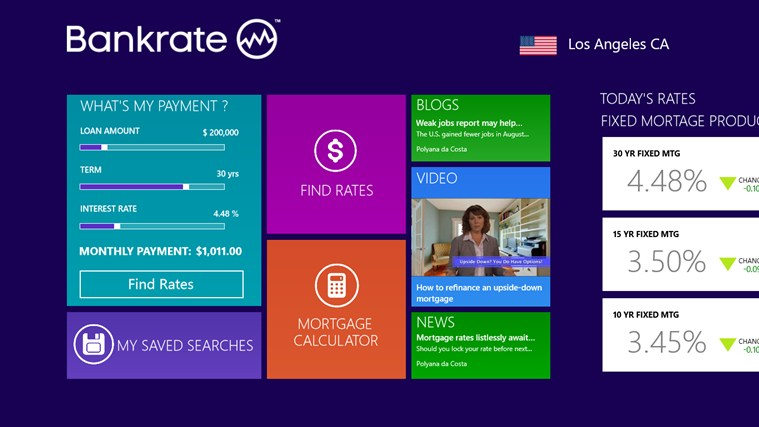 Good Bankrate Mortgage Calculator U0026 Rates App For Windows 8