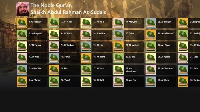 Noble Quran - Shaikh Sudais for Windows 8 and 8 1