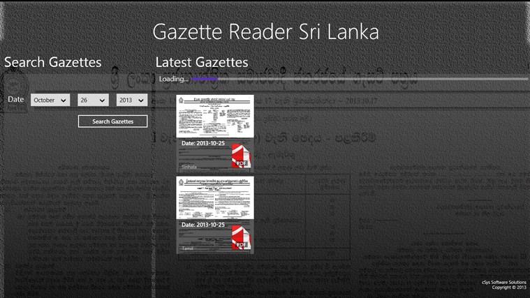 Gazette Reader Sri Lanka for Windows 8 and 8 1