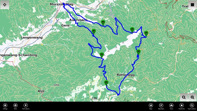 Vectorial Map Offline Viewer for Windows 8 and 8 1