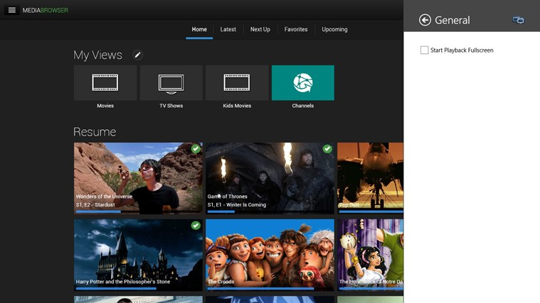 Smart Player for Emby for Windows 8 and 8 1