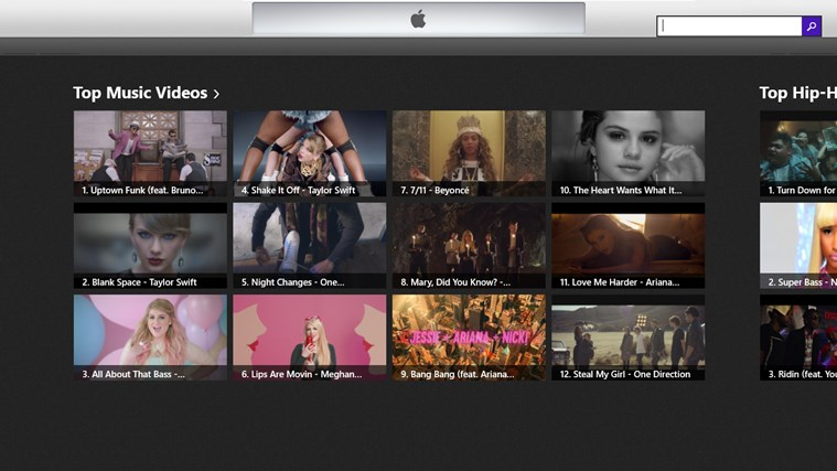 TipTop Music Videos On iTunes Store for Windows 8 and 8 1