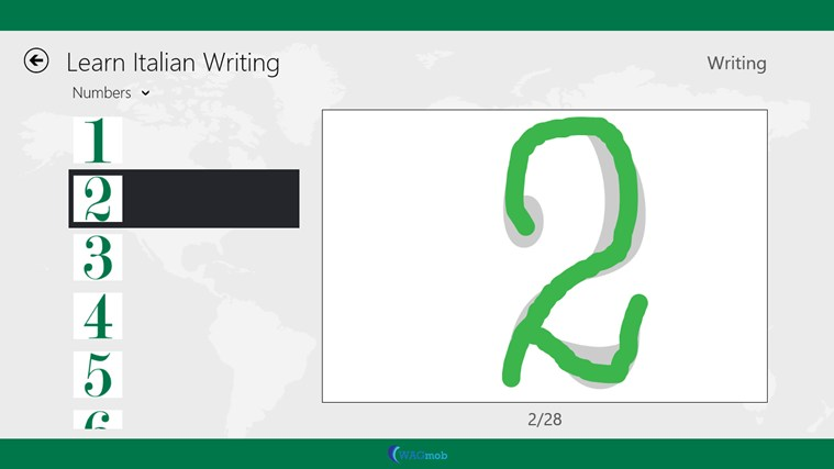 Learn Italian Writing By Wagmob on Practice Letter And Number Writing Apps