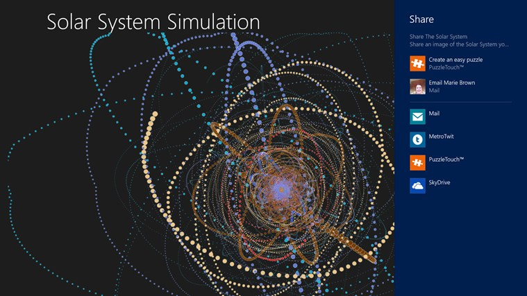 Solar System Simulation for Windows 8 and 8 1