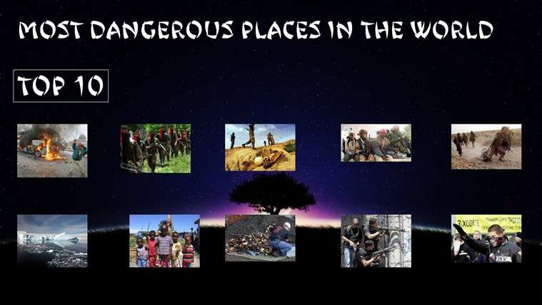 TOP 10 MOST DANGEROUS PLACES IN THE WORLD for Windows 8 and 8.1