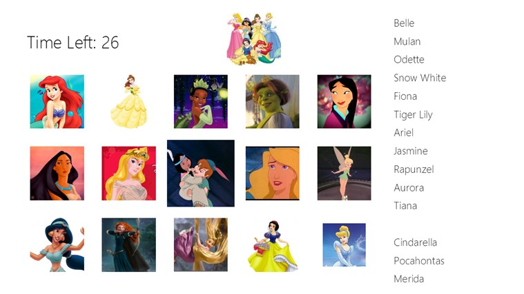 Disney Princess Puzzle for Windows 8 and 8.1