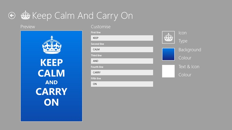 Make Your Own Keep Calm Poster Template: Keep Calm For Windows 8 And 8.1
