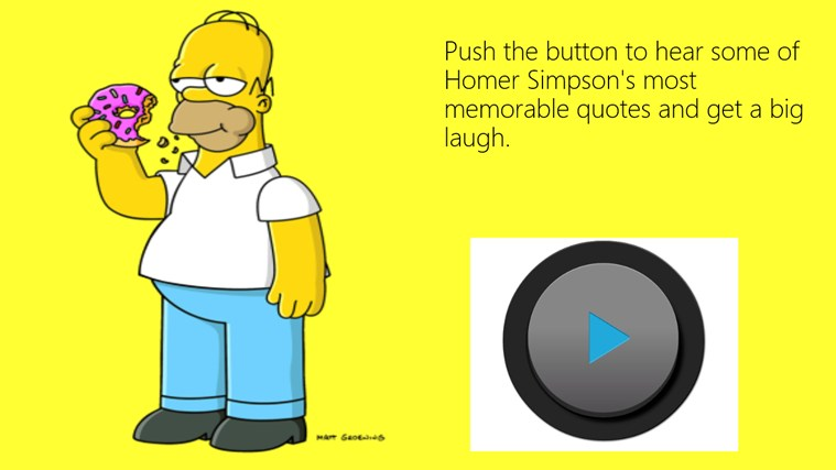 Homer J  Simpson Soundboard! for Windows 8 and 8 1