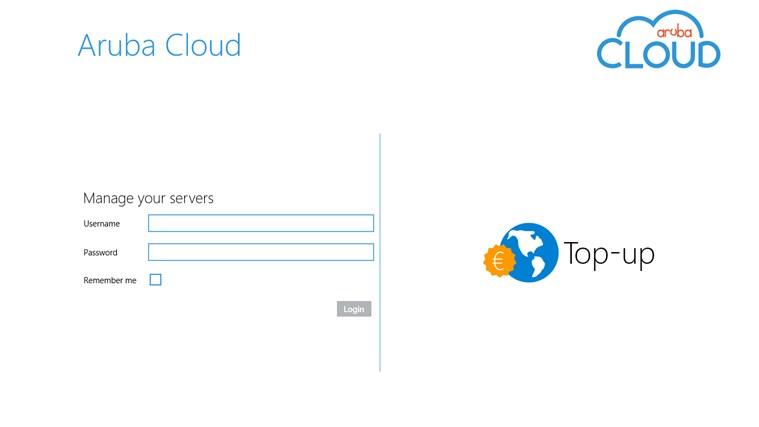 Aruba Cloud Computing for Windows 8 and 8 1