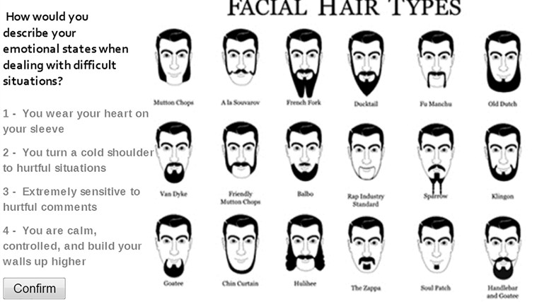 What Type Of Facial Hair Are You For Windows 8 And 8 1