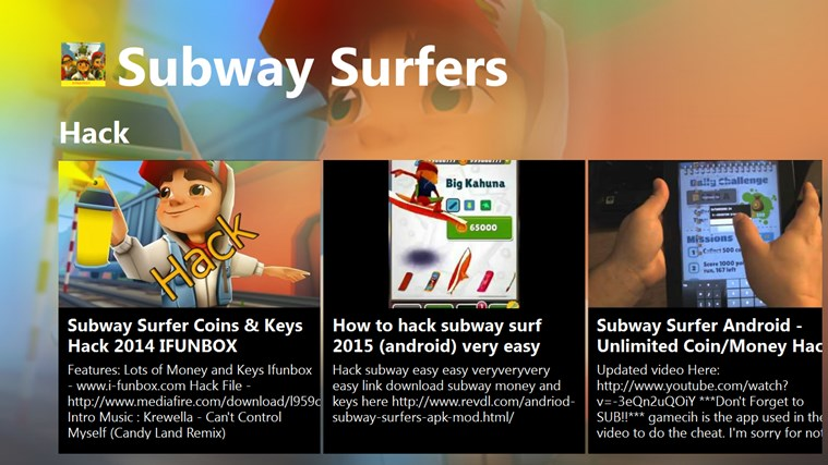 Strategy Of Subway Surfers for Windows 8 and 8 1