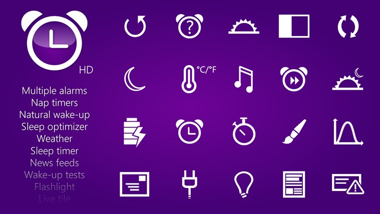 HD Alarm Clock for Windows 8 and 8 1