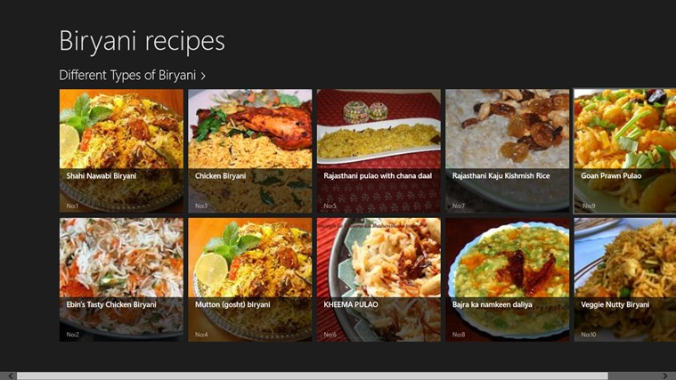 Different Types Of Biryani Recipes For Windows 8 And 8 1
