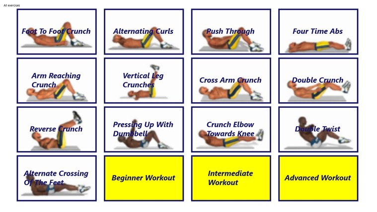 The Abs Workout for Windows 8 and 8.1