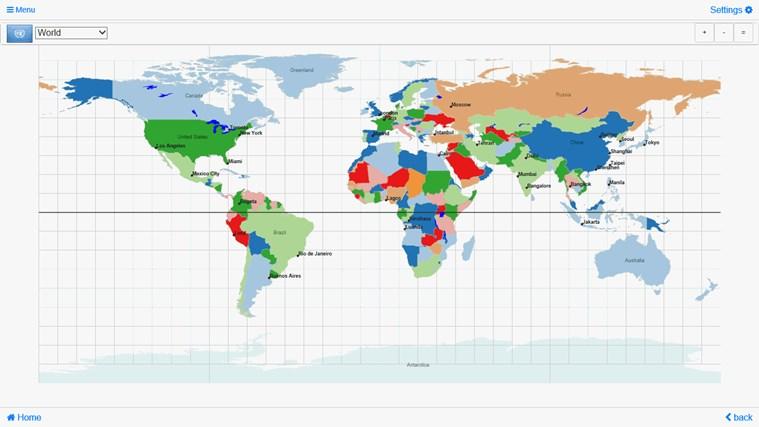 World Atlas & Quiz MxGeo Pro for Windows 8 and 8.1
