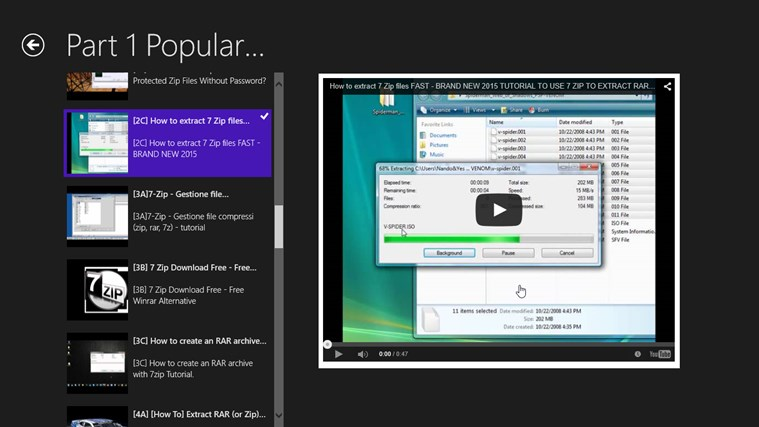 Popular RAR and 7-Zip for Windows 8 and 8 1