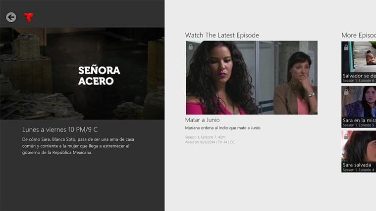 Telemundo NOW for Windows 8 and 8 1