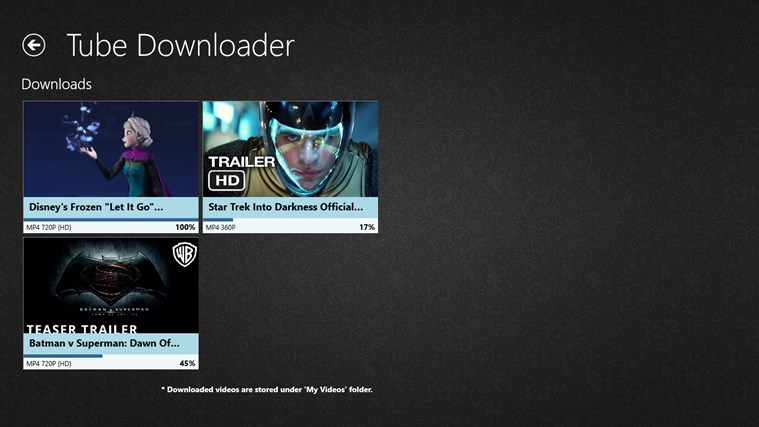 Tube Downloader Lite for Windows 8 and 8 1