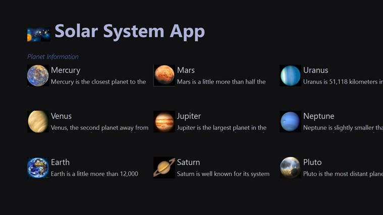 info about the solar system - photo #23