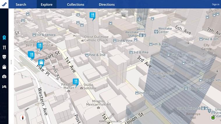 Here Maps Windows 8