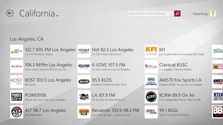 iHeartRadio for Windows 8 and 8 1