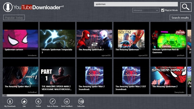Butler for YouTube for Windows 8 and 8 1