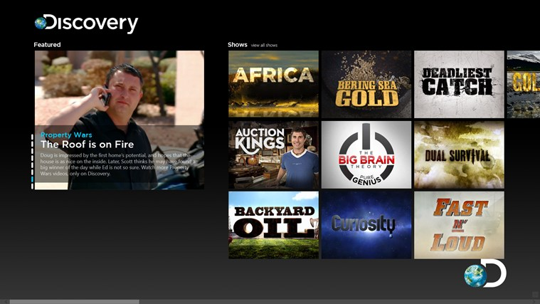 Discovery Channel for Windows 8 and 8 1