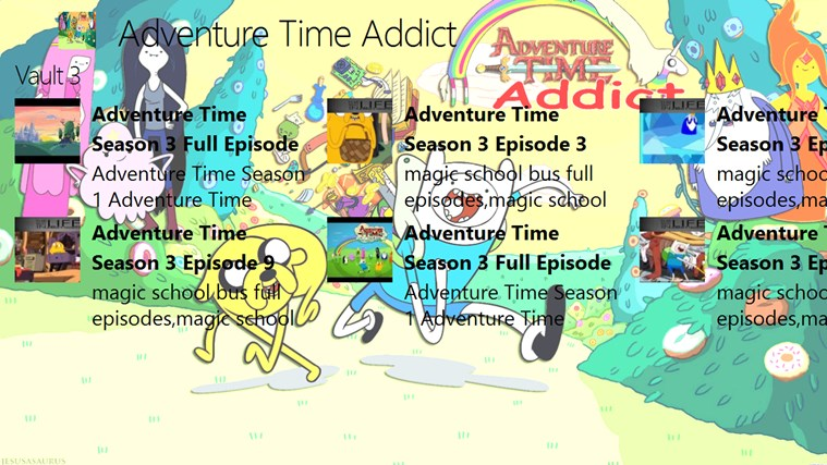 Adventure Time Addict for Windows 8 and 8 1