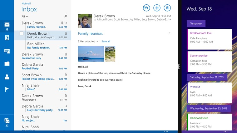 Mail, Calendar, and People for Windows 8 and 8 1