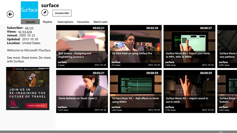 youtube app for windows 8
