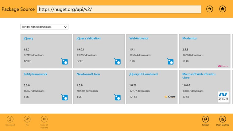 install nuget package explorer windows 10