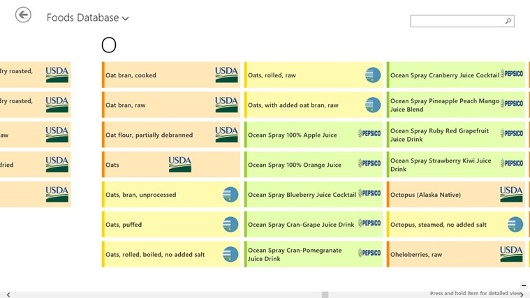 food exercise body tracker for windows 8 and 8 1