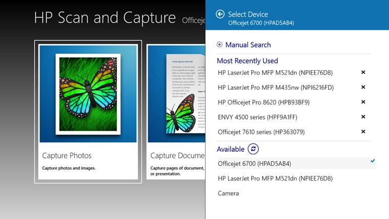 HP Scan and Capture for Windows 8 and 8 1