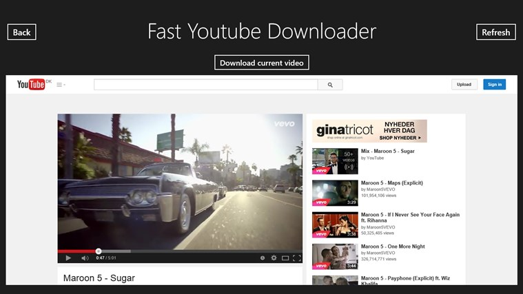 Fast Youtube Downloader for Windows 8 and 8 1