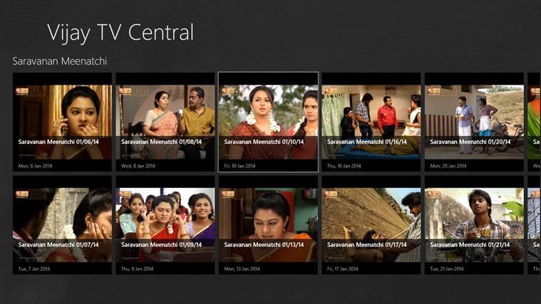 Vijay TV Central for Windows 8 and 8 1