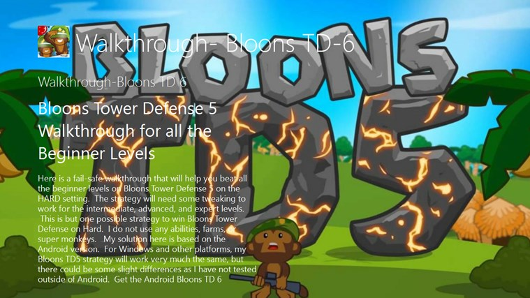Walkthrough- Bloons TD-6 for Windows 8 and 8 1