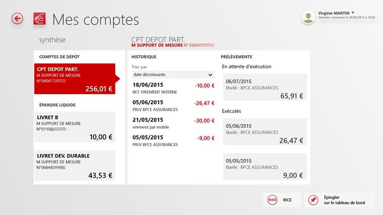 Caisse D Epargne Banque Pour Tablette Et Pc For Windows 8 And 8 1
