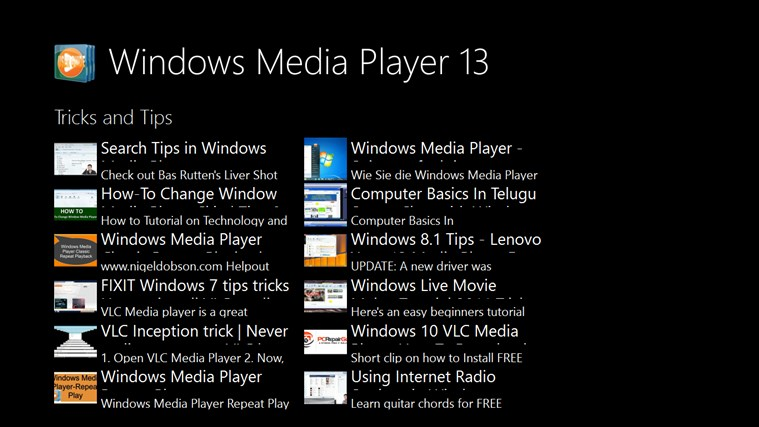 Windows Media Player 13 User Guide for Windows 8 and 8 1