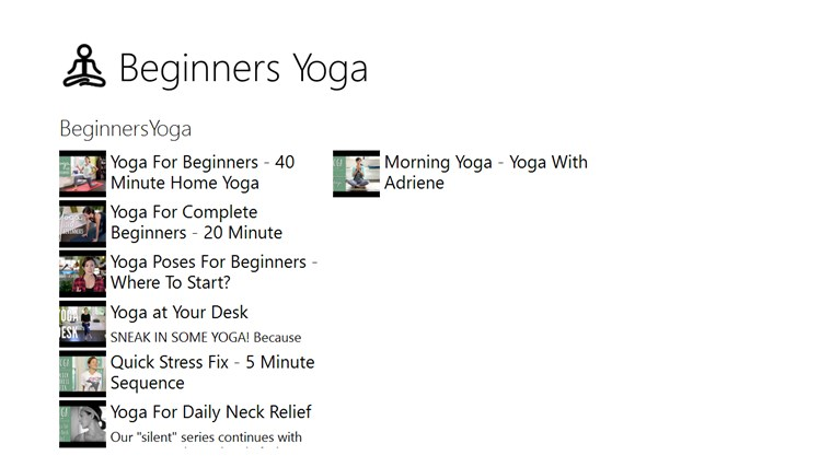 Beginners Yoga for Windows 8 and 8 1
