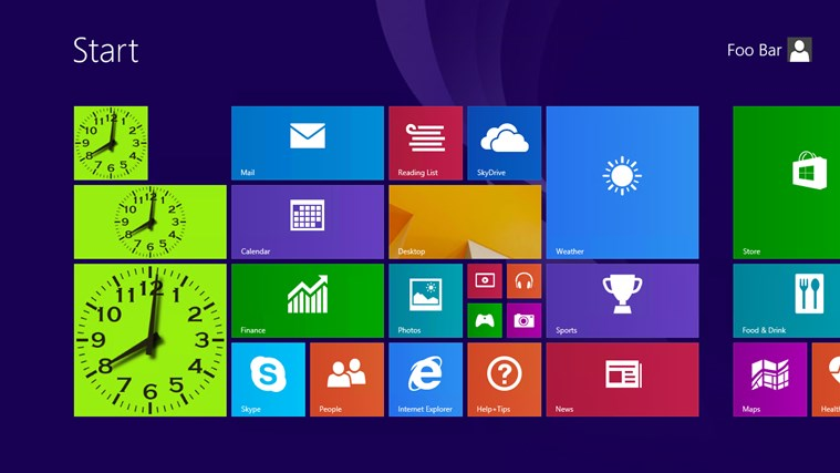 Analog Live Tile Clock for Windows 8 and 8 1