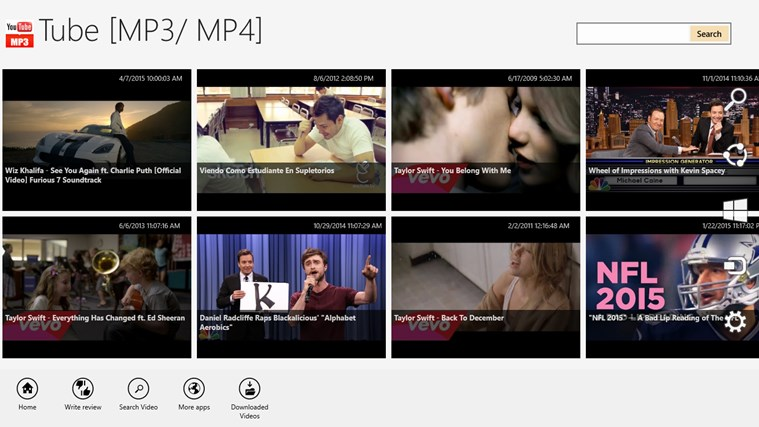 Tube - MP3/MP4 for Windows 8 and 8 1