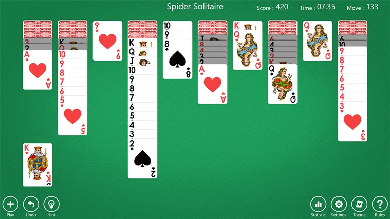 Spider solitaire king | Play free Spider Solitaire  2019-04-28