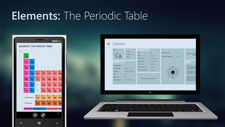 now available on windows phone also - Periodic Table App For Windows 8