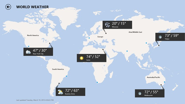 MSN Weather for Windows 8 and 8 1